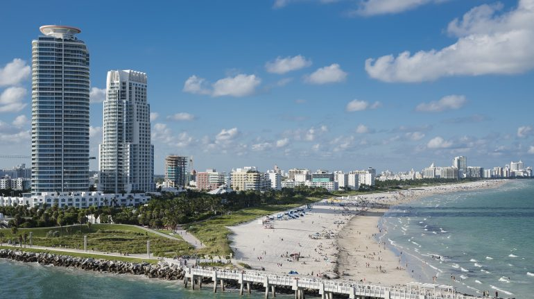 Familieferie til Florida. Besøg Miami Beach